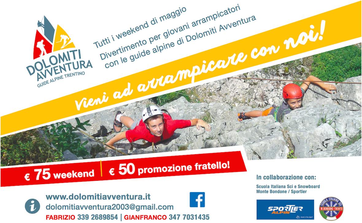 Vieni ad arrampicare con noi!